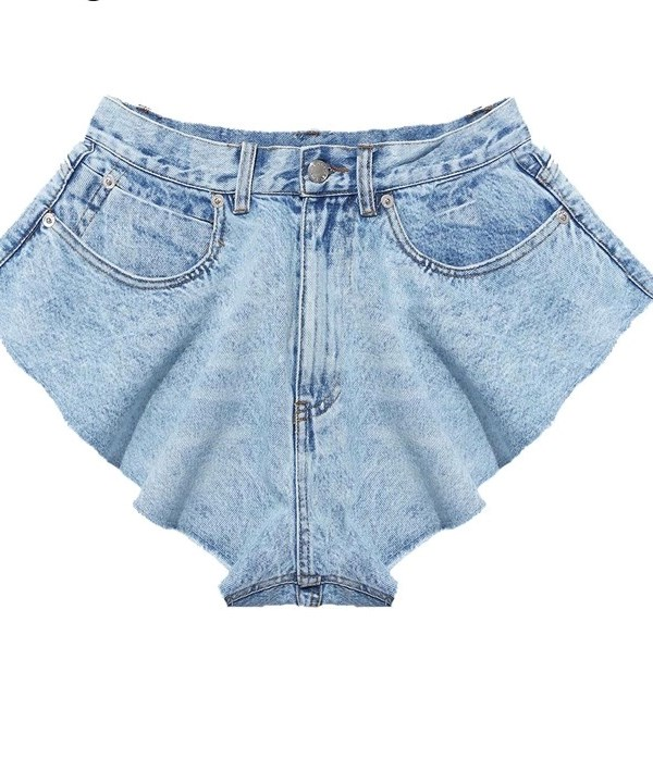 Bali Fun Denim Shorts - Washed Denim
